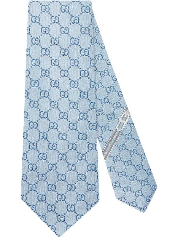 52c99dace757 Gucci Gg Pattern Silk Tie In 4968 Sky Blue | ModeSens