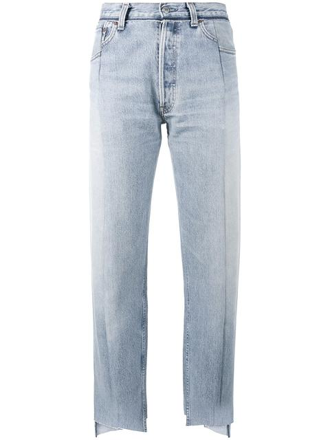 Vetements Reworked High-rise Straight-leg Jeans In Tonal Washed-blue