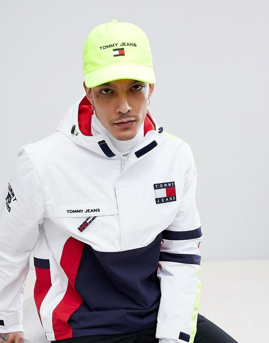 daff131cfed86 Tommy Jeans 90S Sailing Capsule Flag Logo Soft Baseball Cap In Neon Yellow  - Yellow