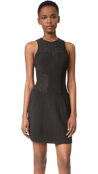 Jonathan Simkhai 'burlesque' Eyelet Mesh Fit & Flare Dress In Black