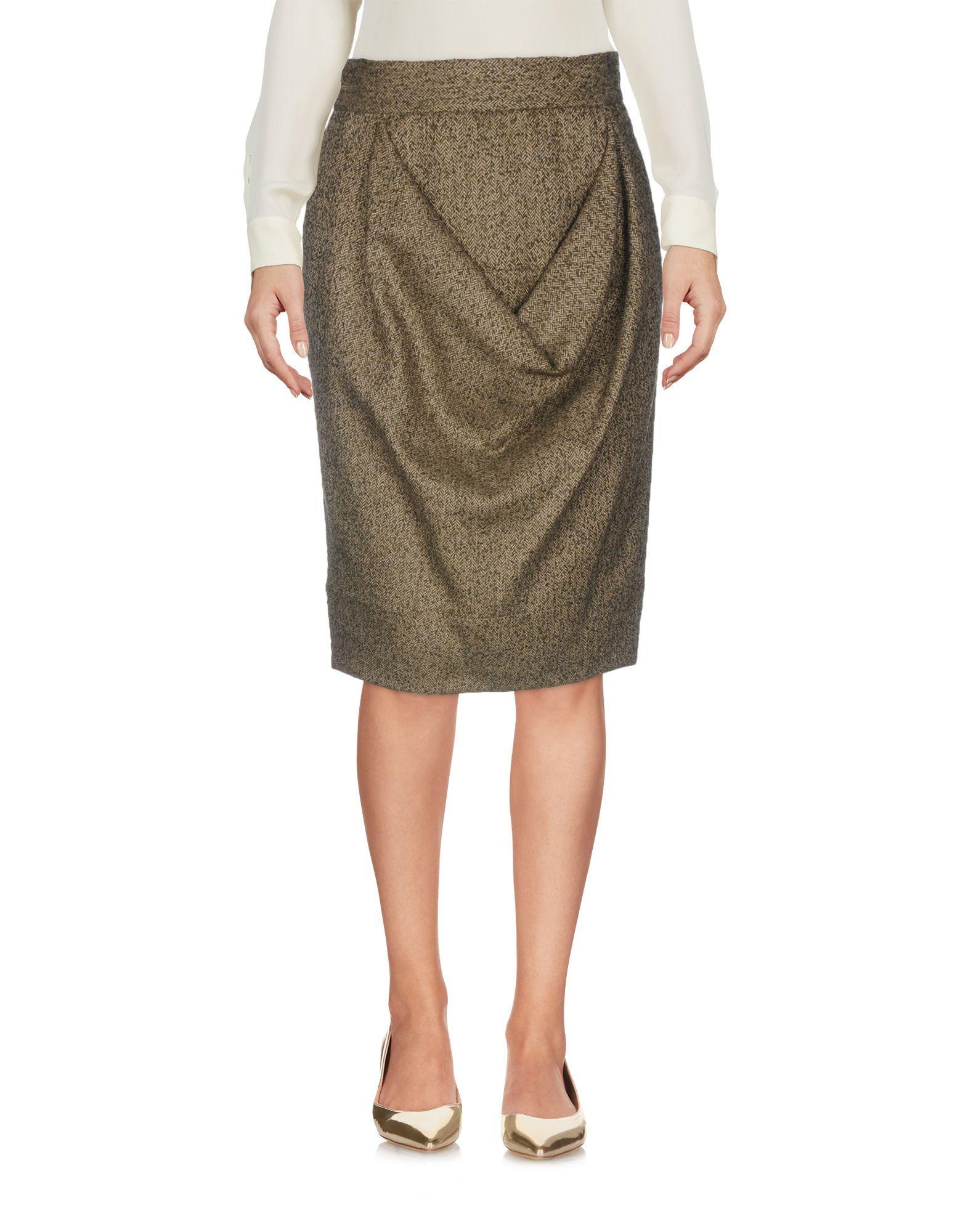 fef8c8b2ac Vivienne Westwood Red Label Knee Length Skirt In Khaki | ModeSens