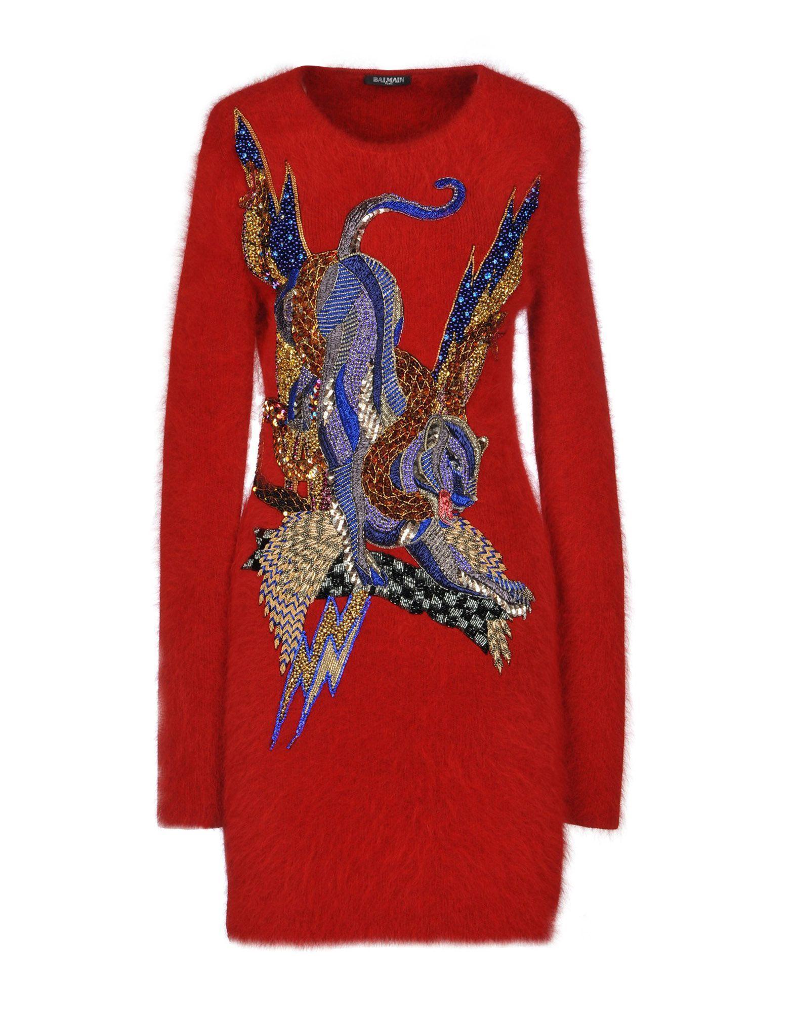 Balmain Sweater In Red