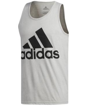 6c094a035ce714 A signature adidas logo brands a lightweight tank perfect for training  sessions at the gym. Style Name  Adidas Slim Fit Heathered Logo Tank.