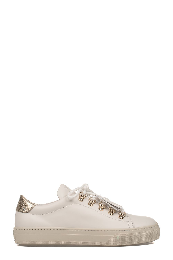 Tod's Metallic-Finish Sneakers In White