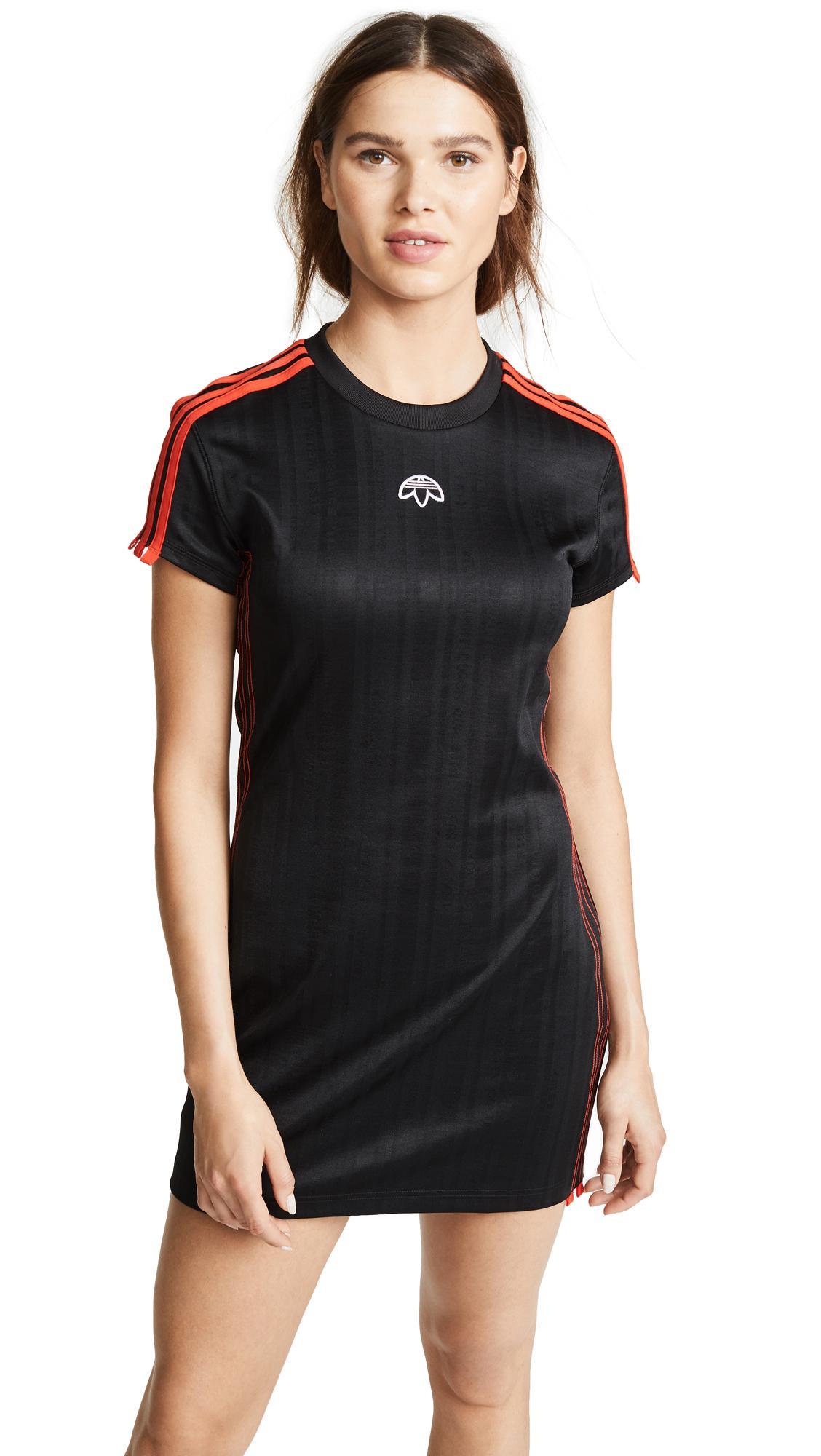 a13117e5820 Adidas Originals By Alexander Wang Aw Dress In Black/Corred | ModeSens