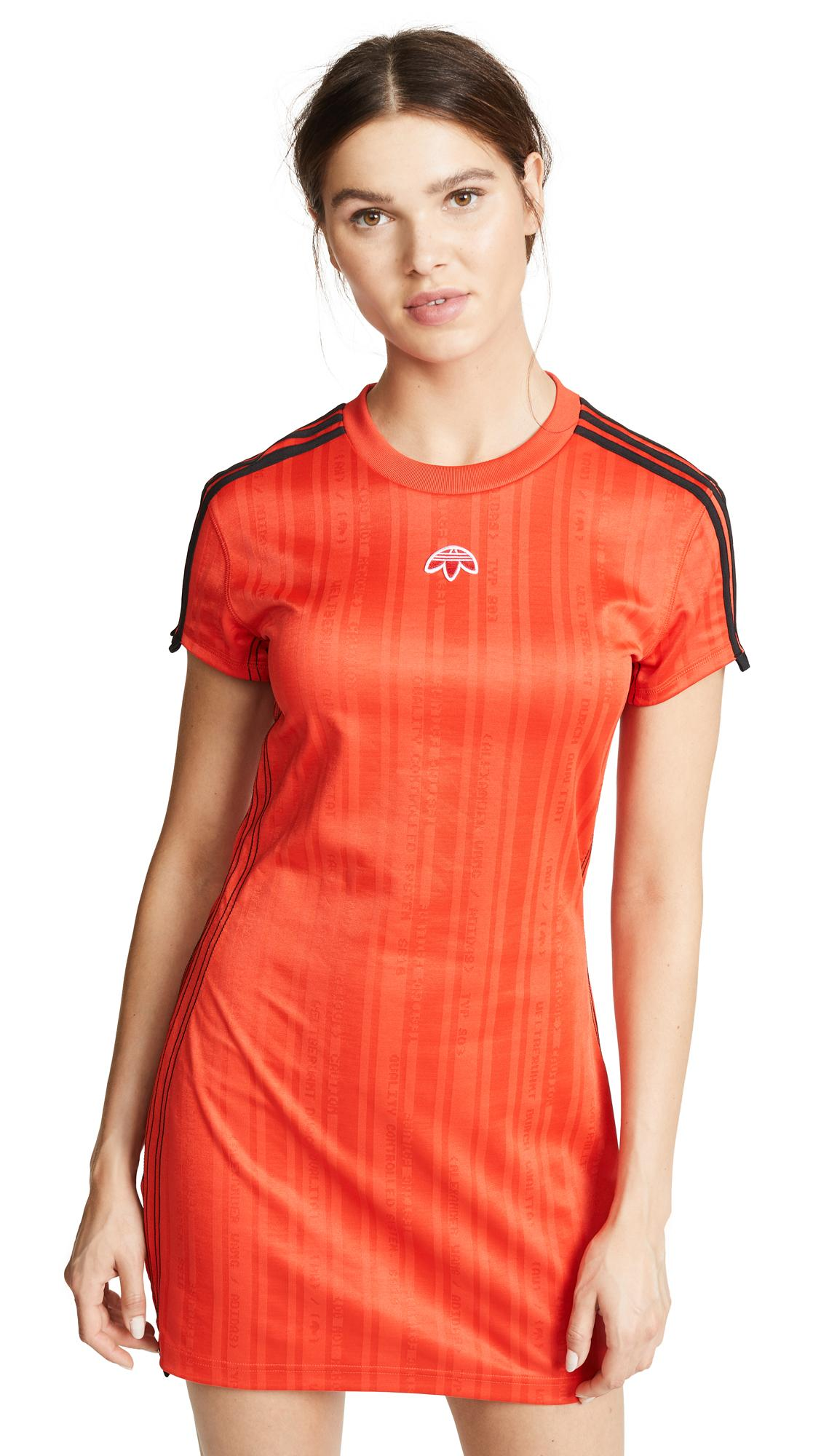 ab83ab26491 Adidas Originals By Alexander Wang Aw Dress In Corred Black