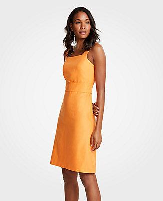 6f6de00d5d6 Ann Taylor Petite Square Neck Sheath Dress In Sorrento Sun