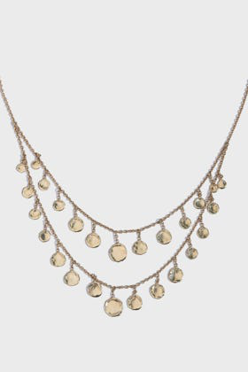 Jacquie Aiche Graduated Disc Drop Shaker Necklace In Y Gold