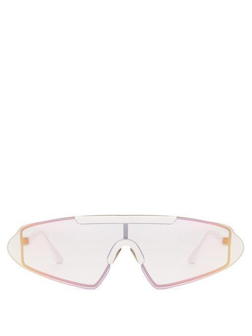 Acne Studios - Bornt D Frame Acetate Sunglasses - Womens - Clear