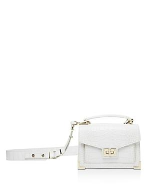 9605b5647c The Kooples Emily Croc-Embossed Leather Mini Crossbody In White ...