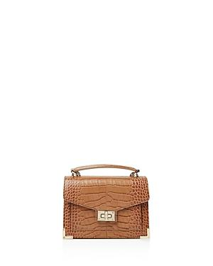 a324eb841e The Kooples Emily Croc-Embossed Leather Mini Crossbody In Brown ...
