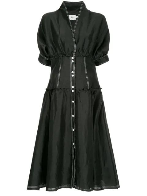 Aje Isotoma Flared Corset Dress - Black