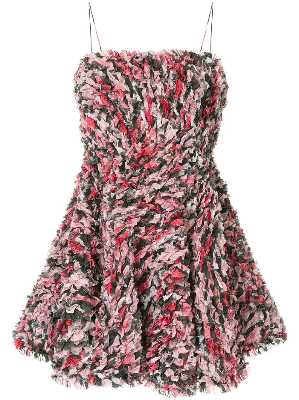 Aje Grevillea Textured Mini Dress - Pink In Pink & Purple