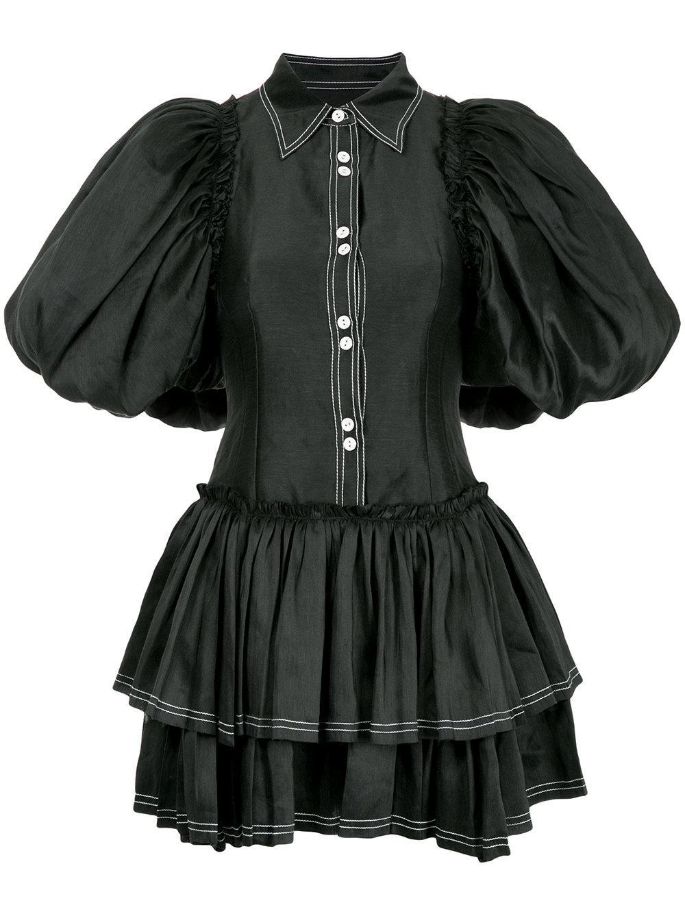 Aje Alice Ruffle Mini Dress