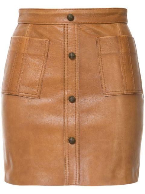 Aje Shrimpton Mini Skirt In Brown