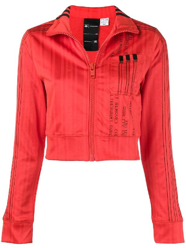 bfc60211f41 Adidas Originals By Alexander Wang Adidas By Alexander Wang Crop Track  Jacket In Red