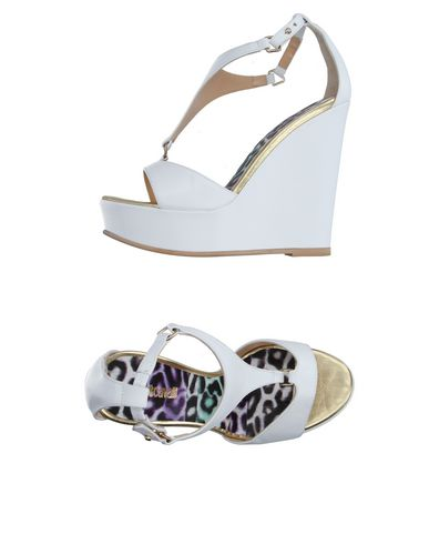 Just Cavalli Sandals In White