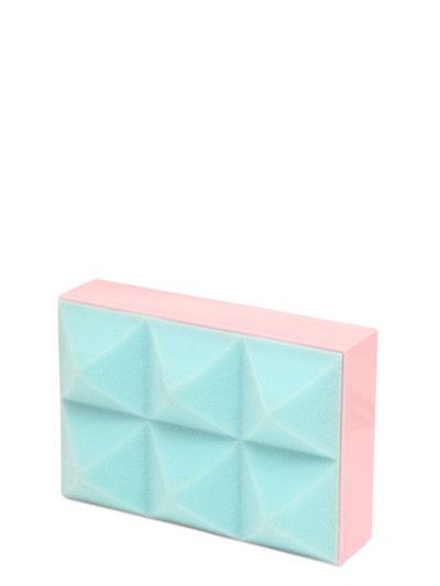 Mary Katrantzou Foam & Perspex Clutch, Light Blue/Pink
