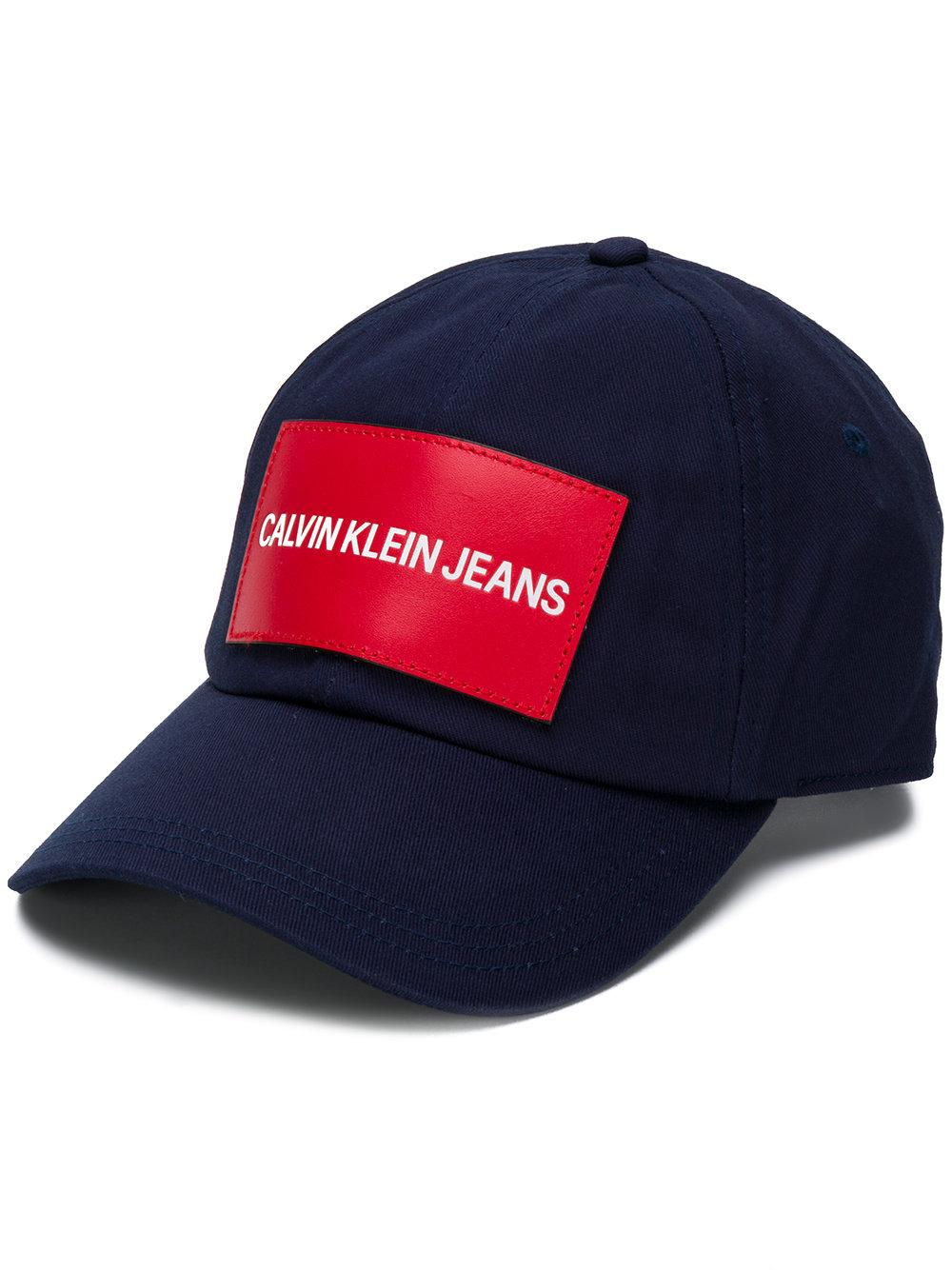 6816ce21792 Calvin Klein Jeans Logo Patch Cap