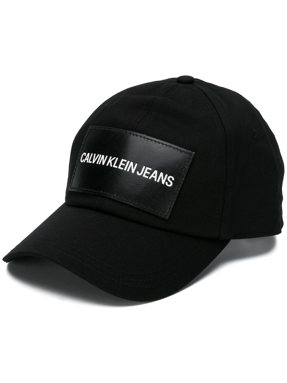 7f9299aab0536 Calvin Klein Jeans Logo Patch Cap