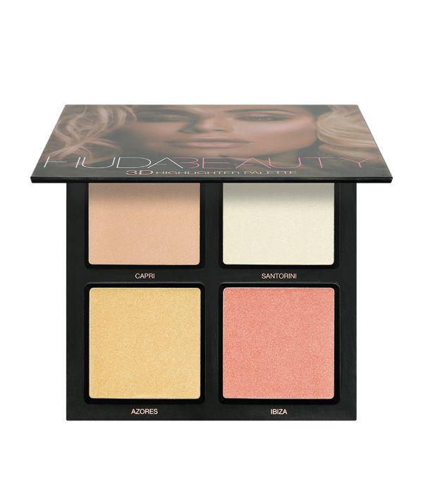 Huda Beauty 3d Cream And Powder Highlighter Palette Bronze Sands Edition