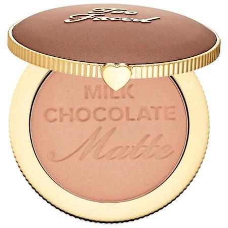 Too Faced Chocolate Soleil Matte Bronzer Milk Chocolate 0.28 oz/ 8 G In Milk Chocolate Soleil