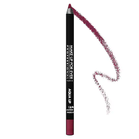Make Up For Ever Aqua Lip Waterproof Lipliner Pencil 10c Matte Raspberry 0.04 oz/ 1.2 G