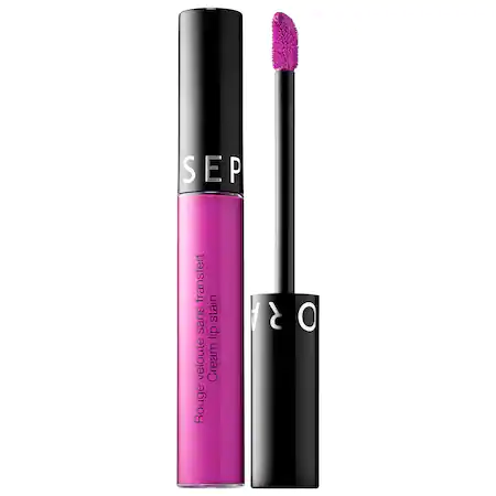Sephora Collection Cream Lip Stain Liquid Lipstick 101 Plum Aurora 0.169 oz/ 5 ml
