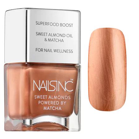 Nails Inc. Sweet Almond Nail Polish Powered By Matcha Mayfair Market 0.47 oz/ 14.50 ml