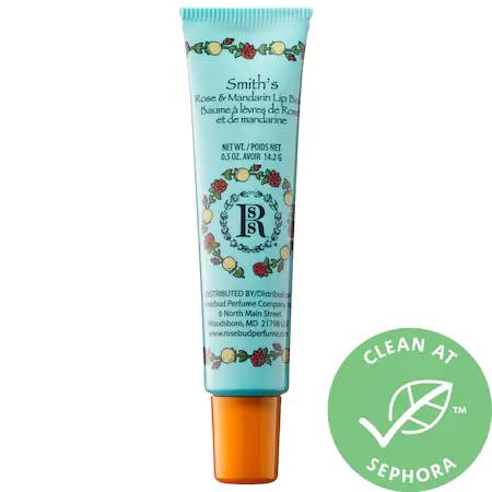 Rosebud Perfume Co. Rose & Mandarin Lip Balm 0.5 oz
