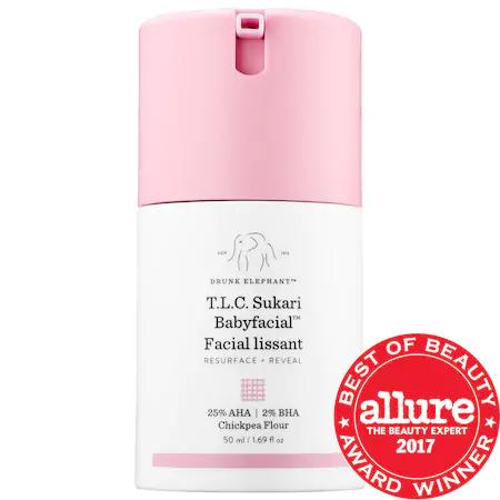 Drunk Elephant T.l.c. Sukari Babyfacial™ 25% Aha + 2% Bha Mask 1.69 oz/ 50 ml
