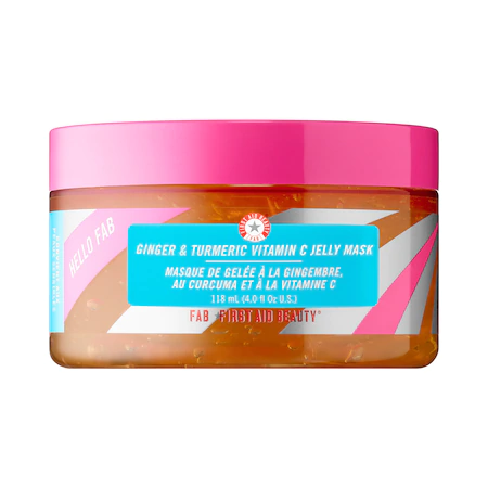 First Aid Beauty Hello Fab Ginger & Turmeric Vitamin C Jelly Mask 4 oz/ 118 ml