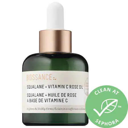 Biossance Squalane + Vitamin C Rose Oil Original 1 oz/ 30 ml