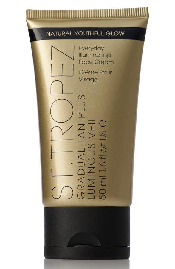 St. Tropez Tanning Essentials Gradual Tan Plus Luminous Veil Everyday Illuminating Face Cream 1.6 oz/ 50 ml
