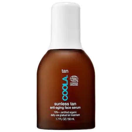 Coola Organic Sunless Tan Anti-aging Face Serum 1.7 oz/ 50 ml