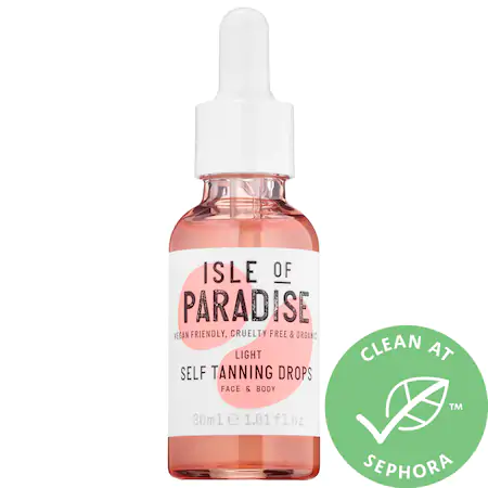 Isle Of Paradise Self Tanning Drops Light 1.01 oz/ 30 ml