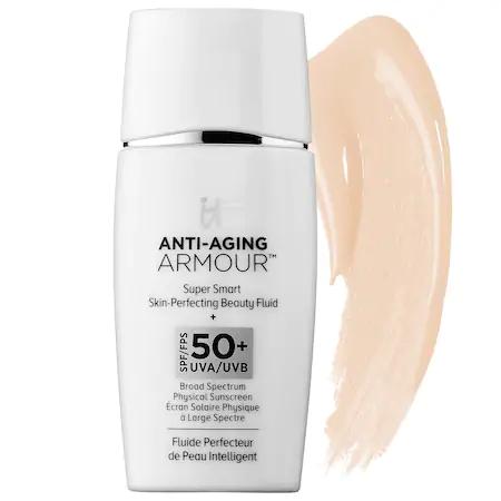 It Cosmetics Anti-aging Armour Tinted Sunscreen Spf 50+ Universal Translucent 1 oz/ 30 ml
