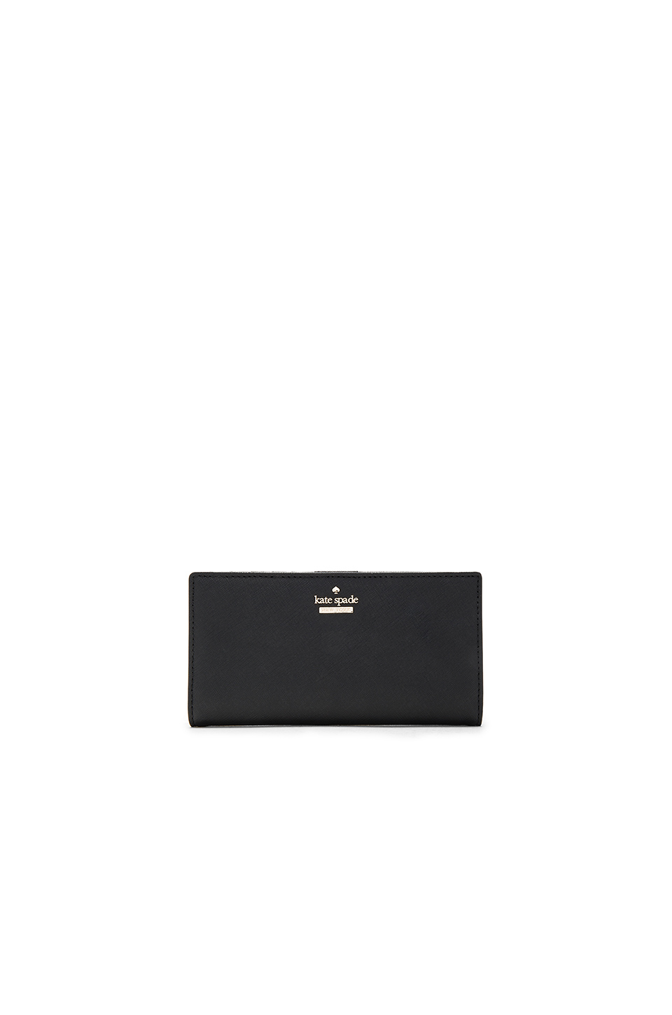 Kate Spade 'cameron Street - Stacy' Textured Leather Wallet In Black
