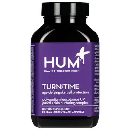 Hum Nutrition Turn Back Time Turmeric Supplement 60 Vegetarian Capsules In Dark Purpl
