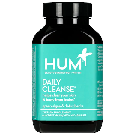 Hum Nutrition Daily Cleanse Clear Skin And Body Detox Supplement 60 Capsules In Light Gree
