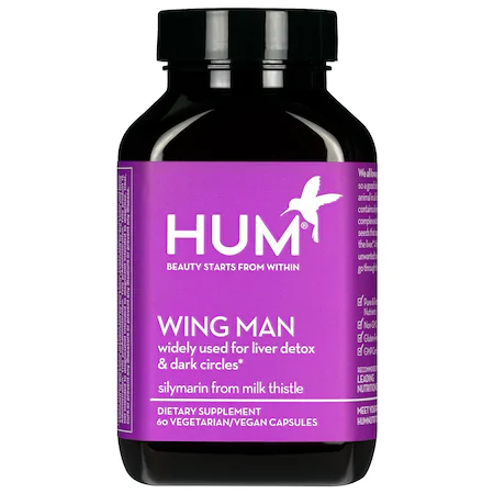 Hum Nutrition Wing Man Liver Detox And Dark Circle Supplement 60 Capsules