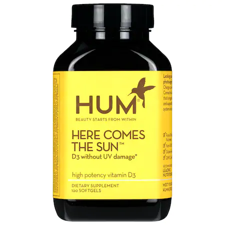 Hum Nutrition Here Comes The Sun Vitamin D Supplement 120 Softgels