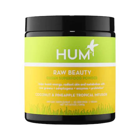 Hum Nutrition Raw Beauty Skin & Energy Green Superfood Powder Tropical 8.5 oz/ 240 G