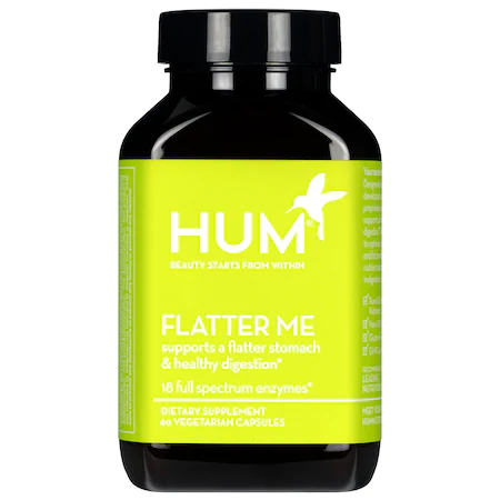 Hum Nutrition Flatter Me Digestive Enzyme Supplement 60 Vegetarian Capsules In Bright Gre