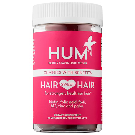 Hum Nutrition Hair Sweet Hair Growth - Vegan Gummies 60 Vegan Berry Gummy Hearts In Red And Wh