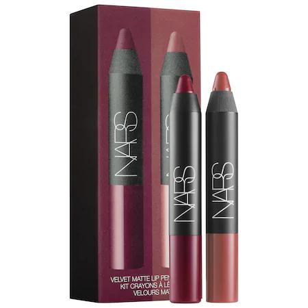 Nars Velvet Matte Lipstick Pencil Duo Damned/ Walkyrie 2 X 0.06 oz/ 1.8 G
