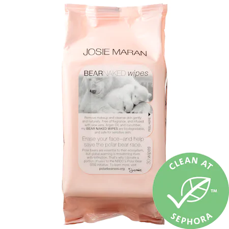 Josie Maran Bear Naked Wipes Mini 30 Wipes