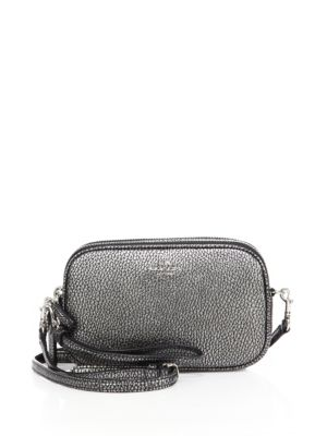 Coach Pebble Leather Convertible Clutch In Gunmetal
