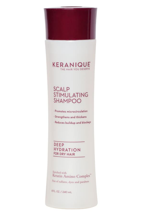 Keranique Scalp Stimulating Shampoo Deep Hydration For Dry Hair 8 oz