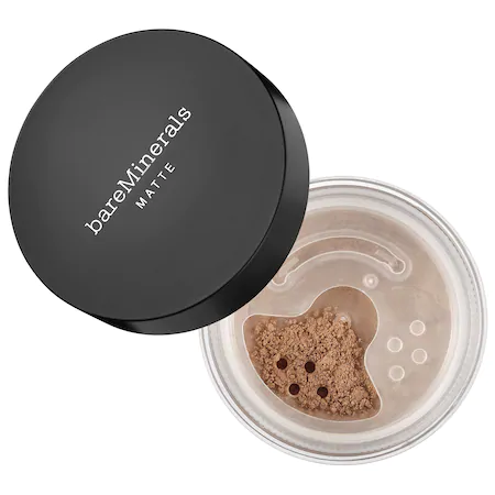 Bareminerals Matte Loose Powder Mineral Foundation Broad Spectrum Spf 15 Deepest Deep 30 0.2 oz/ 6 G In Deepest Deep 30 - For Deepest Skin With Cool Undertones